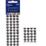 Rainbow Stones - 8mm Black